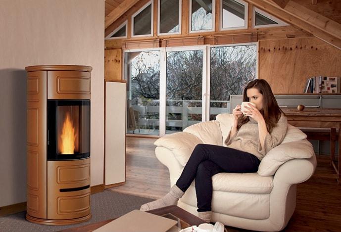 Canalizzazione con Multifuoco - grazie ad un semplice sistema di canalizzazione è possibile diffondere il calore in diverse stanza della casa, potendo diventare un impianto di riscaldamento con anche su due piani diversi