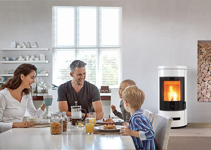 Multifuoco System può trasformare la stufa a legna in un vero impianto di riscaldamento la tua casa, con le stufe ventilate e canalizzate