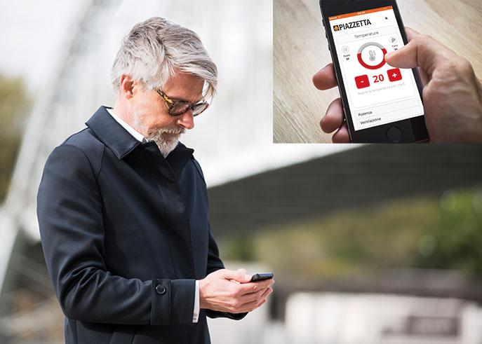Piazzetta app per smartphone per programmare e gestire le stufe