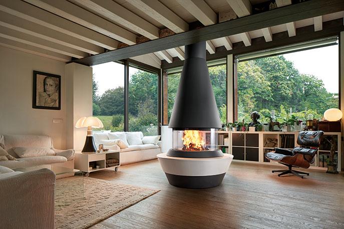 Panoramic fireplace Bergen