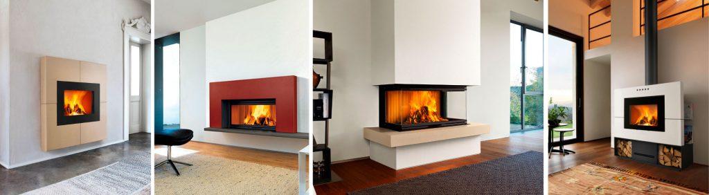 Majolica claddings for fireplaces, models Adelaide, Chester, Kensington, Newport.